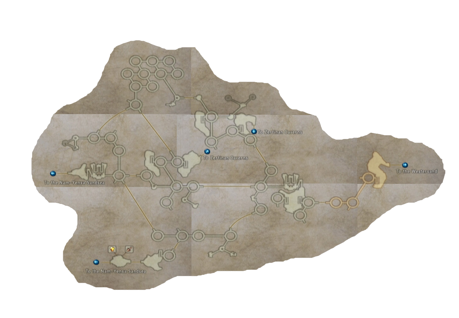 final fantasy xii ogir-yensa sandsea map
