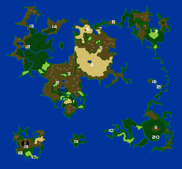 Final Fantasy Iv World Maps