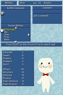 final fantasy iv ds whyt abilities