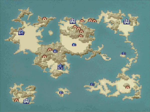Final Fantasy IV DS World Maps