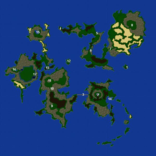 Final Fantasy V Advance World Maps