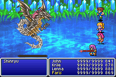 final fantasy v boss shinryu