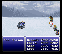 final fantasy vi advance boss ice dragon