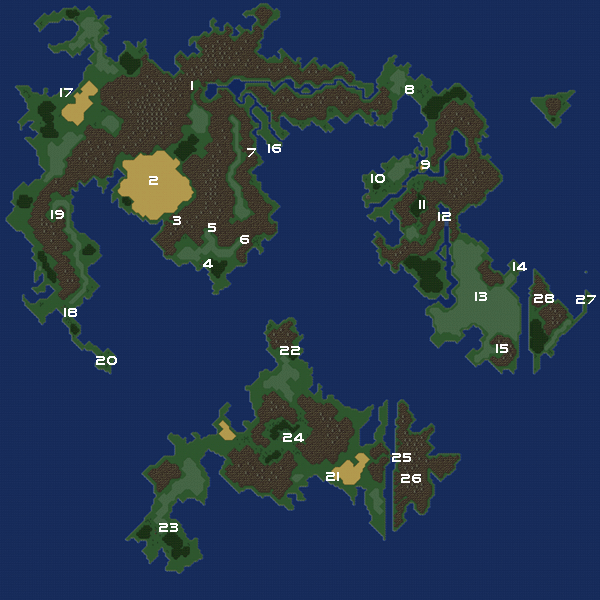 Final Fantasy VI World maps