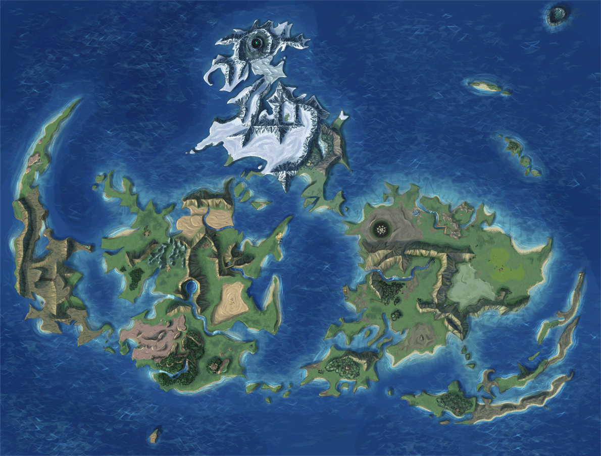Final Fantasy VII World Map - Unmarked map