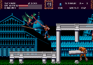 Castlevania bloodlines screenshot