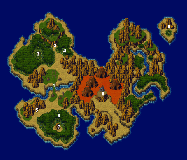 Chrono Trigger World Maps