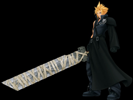 kingdom hearts character cloud