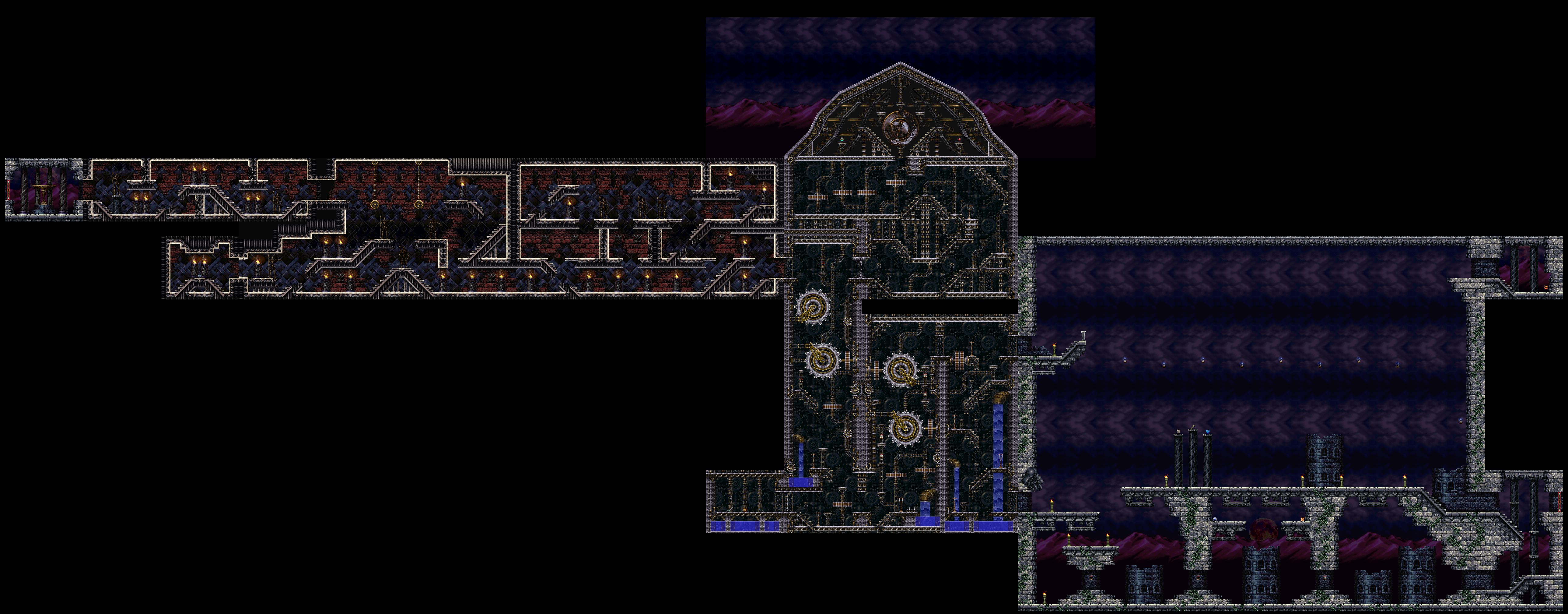 Castlevania World Map.Symphony Of The Night Maps