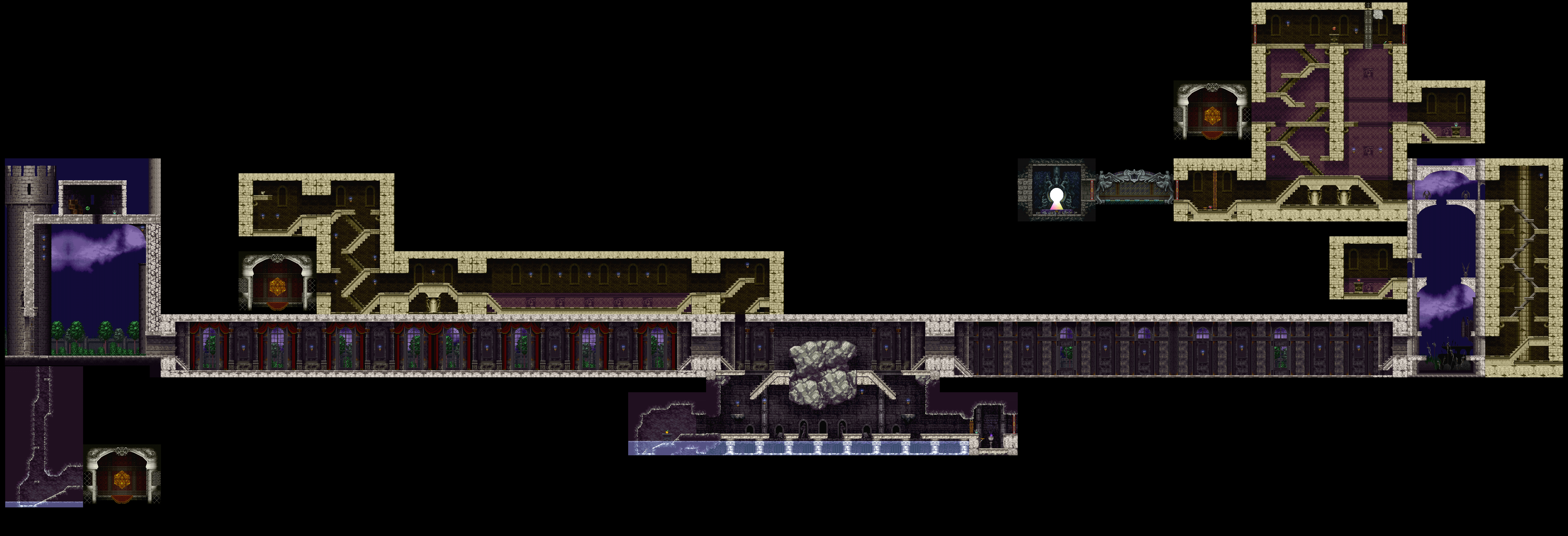 Symphony Of The Night Maps