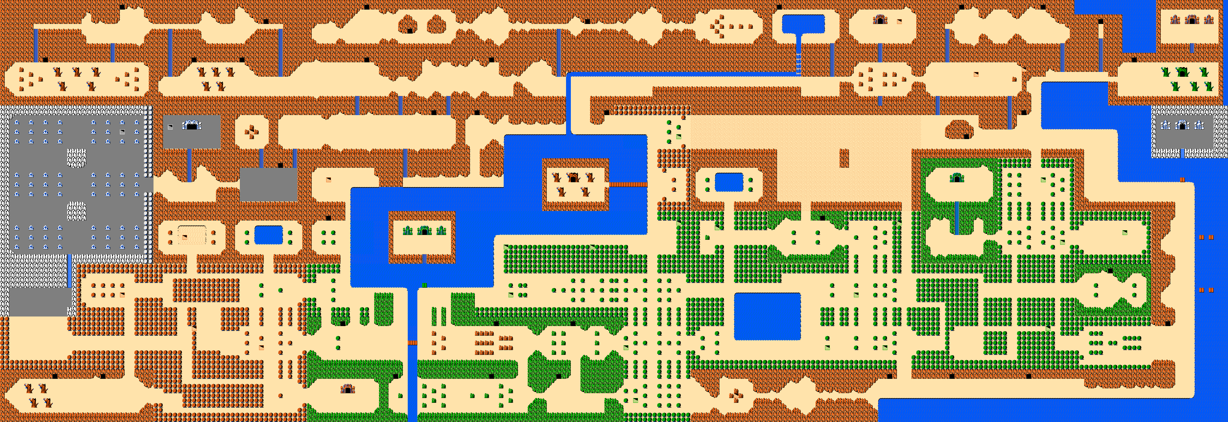 Legend Of Zelda World Map The Legend of Zelda World Maps
