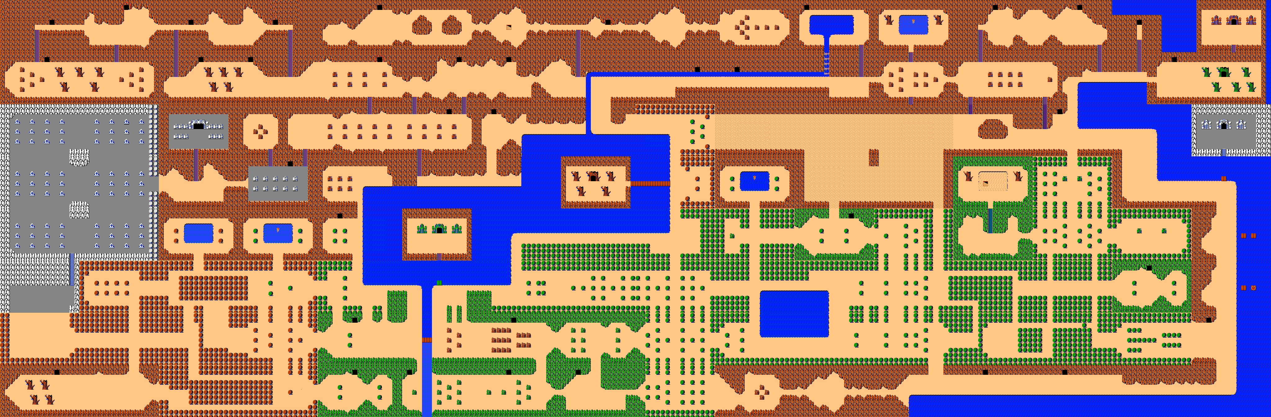 The Legend Of Zelda World Maps