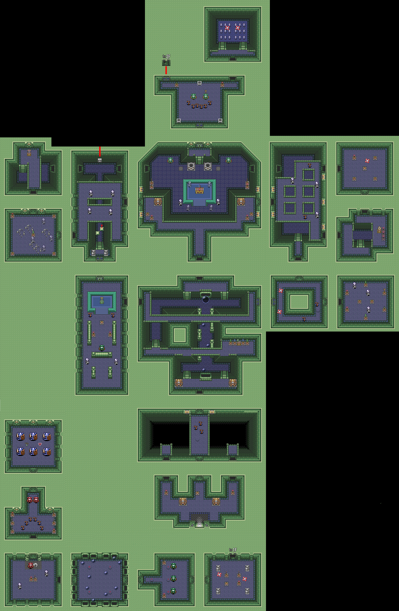 Link To The Past Light World Map.A Link To The Past Maps